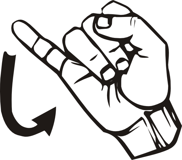 free vector Sign Language J clip art