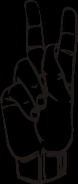 free vector Sign Language K clip art