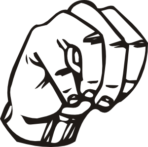 free vector Sign Language M clip art