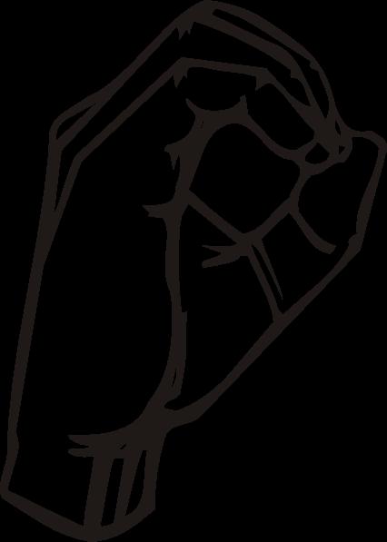 free vector Sign Language O clip art