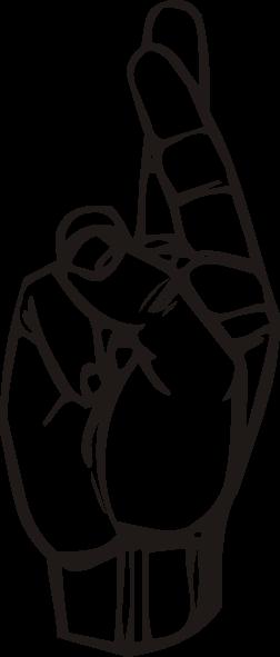 free vector Sign Language R clip art