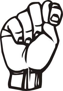 Sign Language T clip art (107872) Free SVG Download / 4 Vector