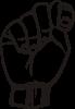 free vector Sign Language T clip art
