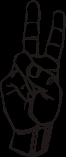 free vector Sign Language V clip art
