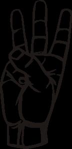 free vector Sign Language W clip art