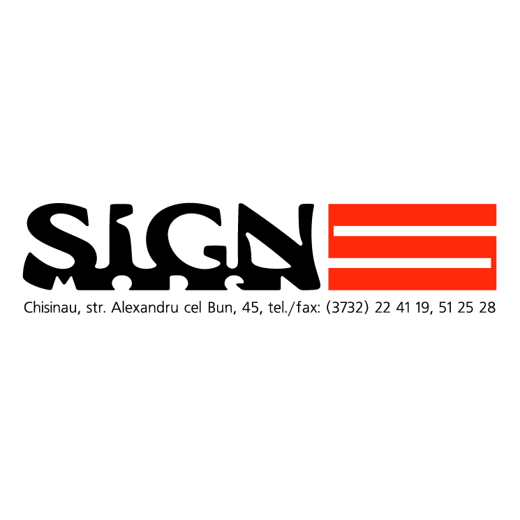 free vector Sign model