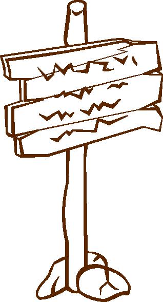 free vector Sign Post clip art