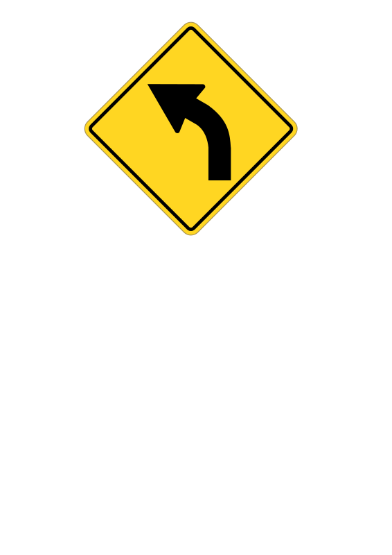 free vector Sign turn left