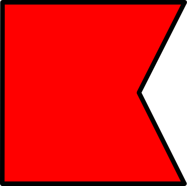 free vector Signal Flag Bravo clip art