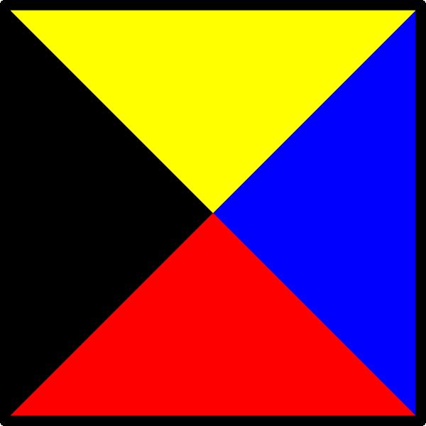 free vector Signal Flag Zulu clip art