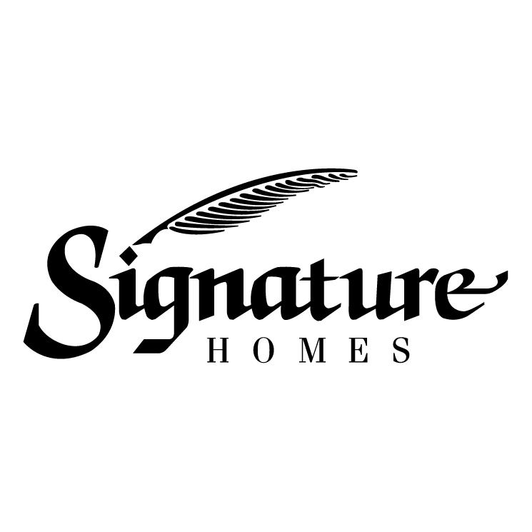free vector Signature homes