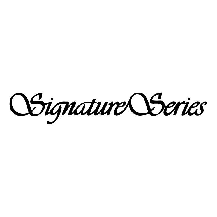 free vector Signature series 0