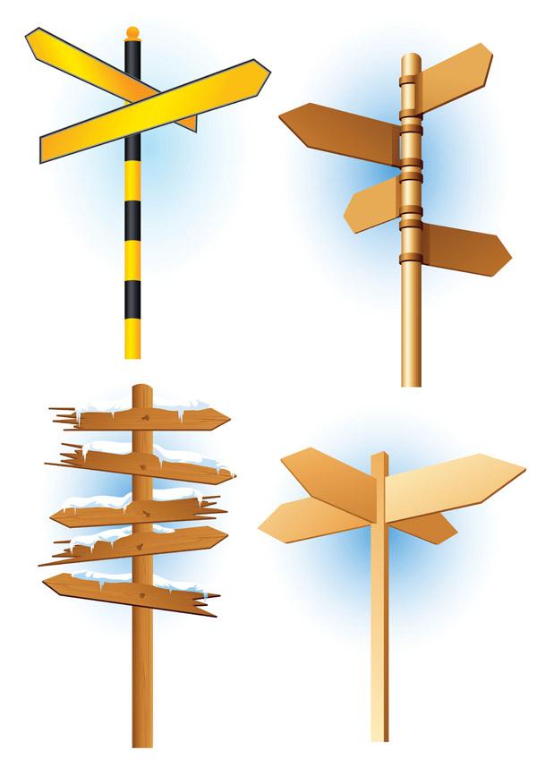 free vector Signpost vector