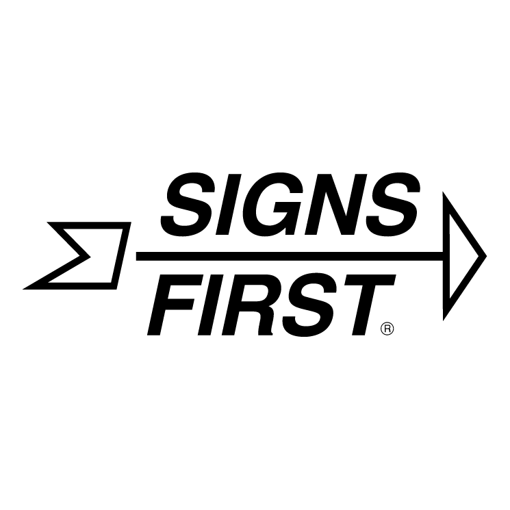 free vector Signs first