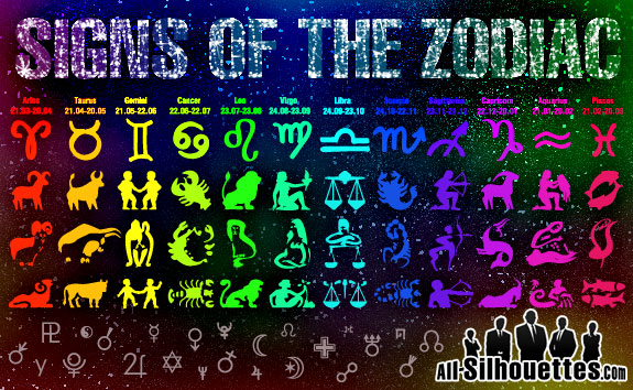 free vector Signs of the Zodiac