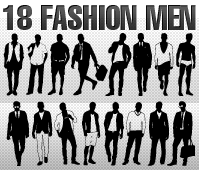 free vector Silhouette Fashion Men