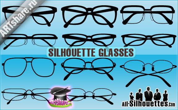free vector Silhouette Glasses