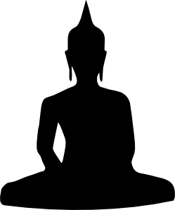 free vector Silhouette Of Buddha Sitting clip art