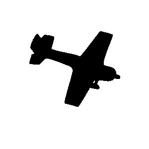 free vector Silhouette Plane clip art
