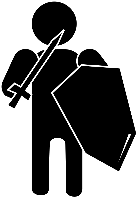 free vector Silhouette Soldier