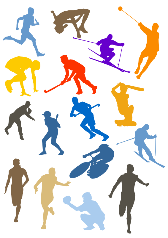 free vector Silhouette Sport Disciplines Set