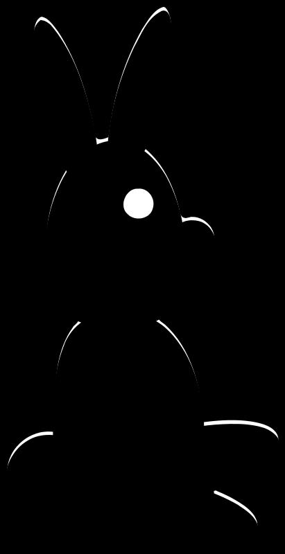 free vector SilhouetteRabbit
