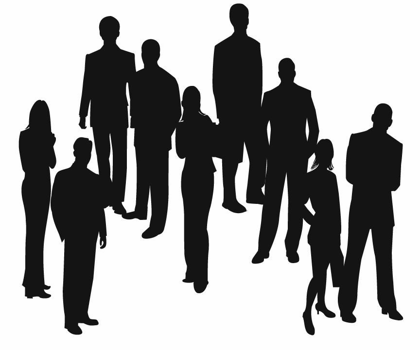 free vector Silhouettes of Business People Vector