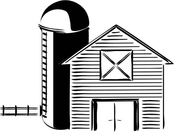 free vector Silo Farming Grain Storage Tank clip art