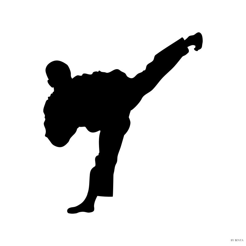 free vector Silueta Tae Kwon Do
