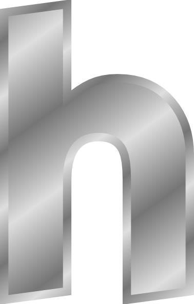 free vector Silver Effect Letter H clip art