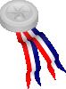free vector Silver Medallion clip art 111375