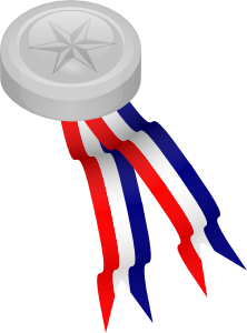 free vector Silver Medallion clip art