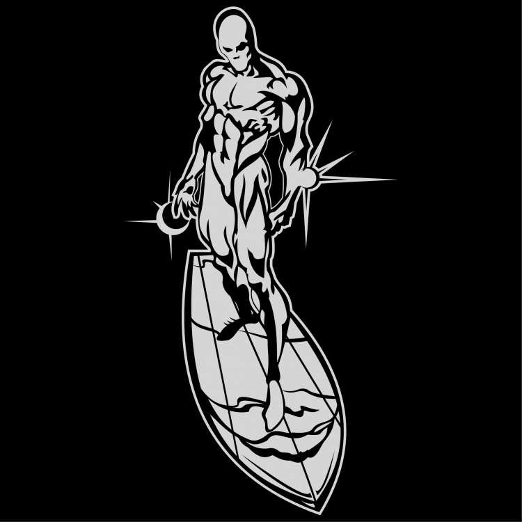 free vector Silver surfer