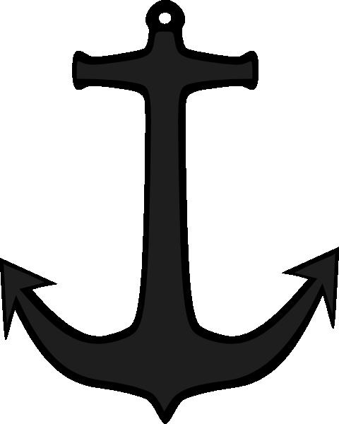 Simple Anchor clip art Free Vector / 4Vector