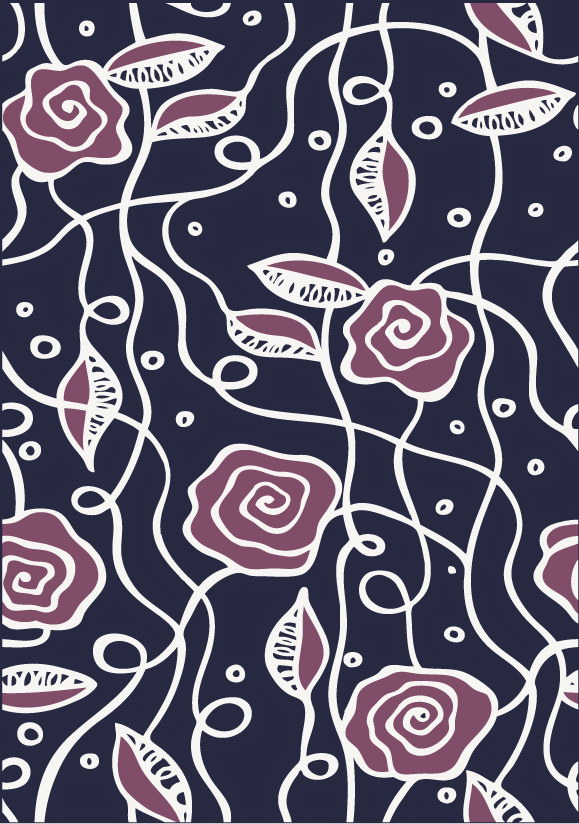 free vector Simple and abstract flower pattern background vector