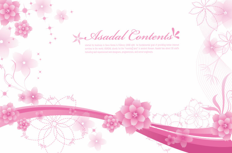 Simple and Elegant Floral Background Vector Graphics Free