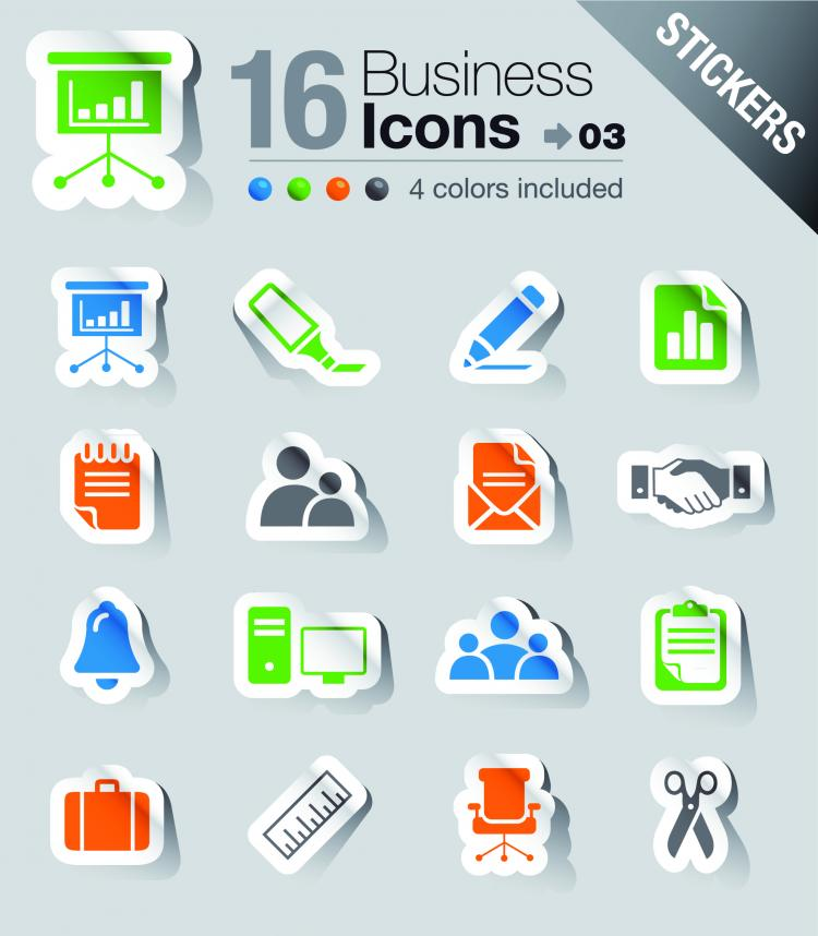 free vector Simple and practical icon 02 vector