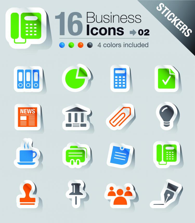 free vector Simple and practical icon 03 vector