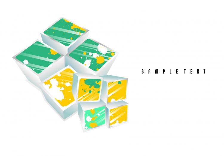 free vector Simple and stylish threedimensional box 03 vector