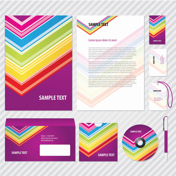 free vector Simple business card template vector vi and