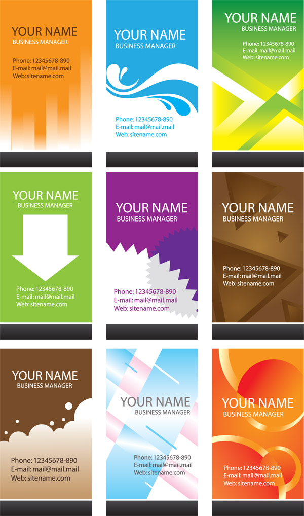 Simple business card template vector free vector 4vector for Simple business card template free