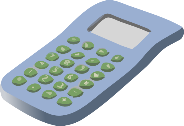 free vector Simple Calculator clip art