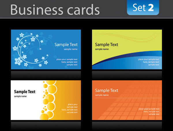 Simple card template free vector 4vector for Simple business card template free