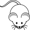 free vector Simple Cartoon Mouse clip art