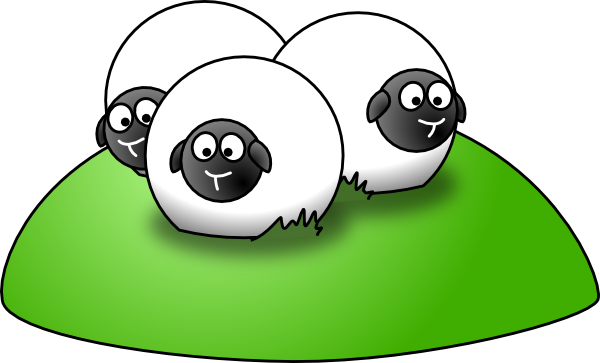 free vector Simple Cartoon Sheep clip art
