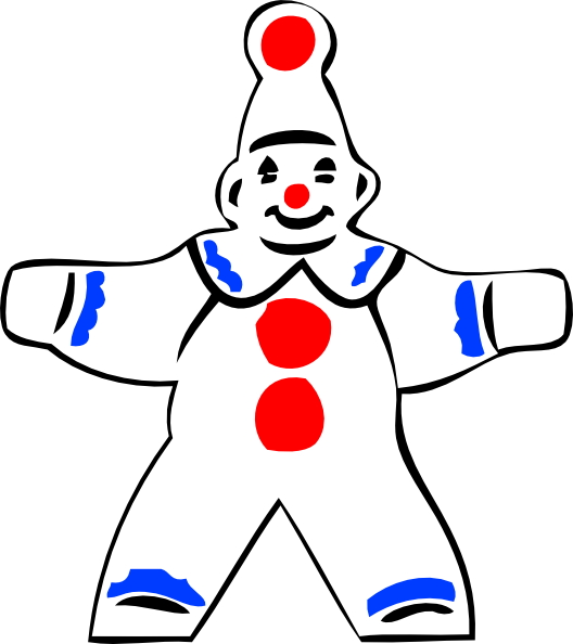 free vector Simple Clown Figure clip art