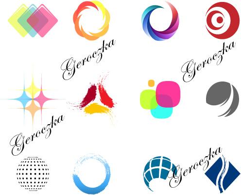 free vector Simple color logo vector