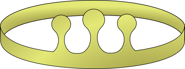 free vector Simple Crown With Three Risers clip art