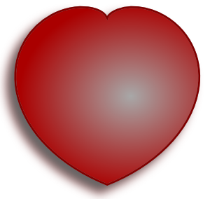 free vector Simple D Heart clip art