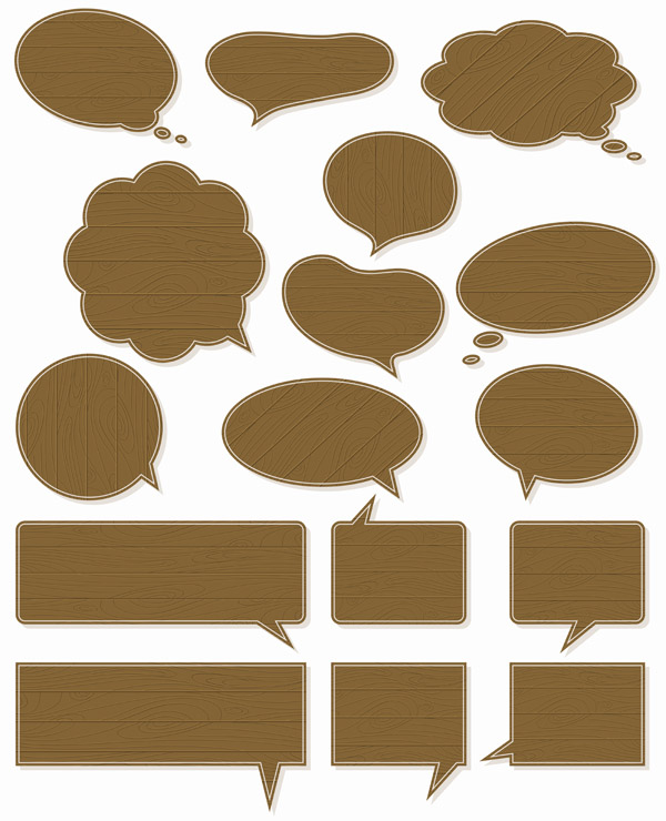 free vector Simple dialogue bubbles vector